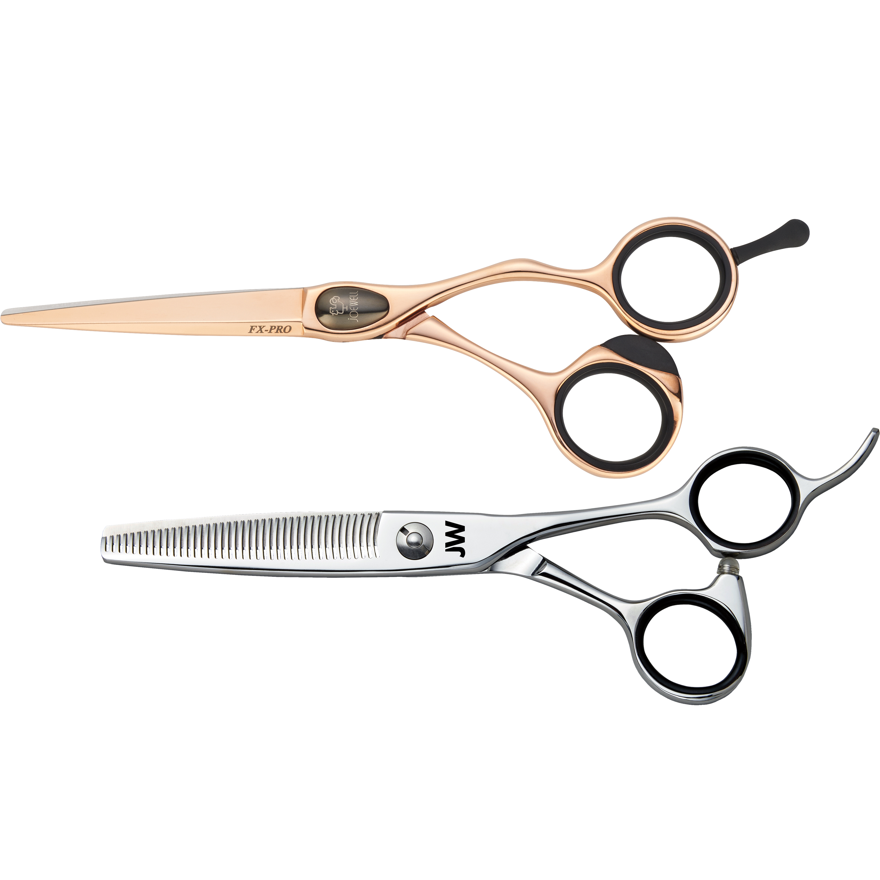Joewell FX Pro Rose Gold Shear & Thinner Kit  - X1052-