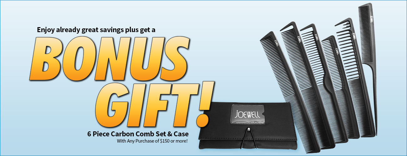 May Special - FREE Comb Set with purchase of $150 or more!