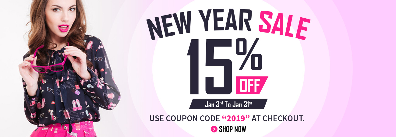 New Year Sale - 15% OFF
