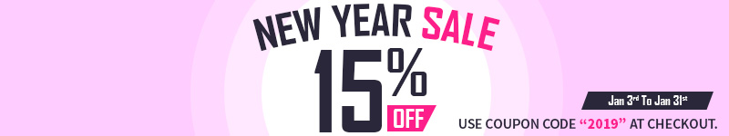 New Year Sale - Save an extra 15%!