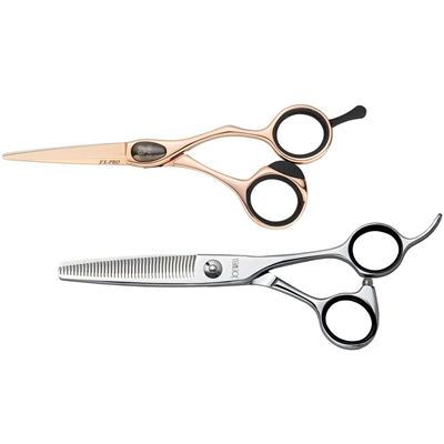 Joewell FX Pro Rose Gold Shear & Thinner Kit