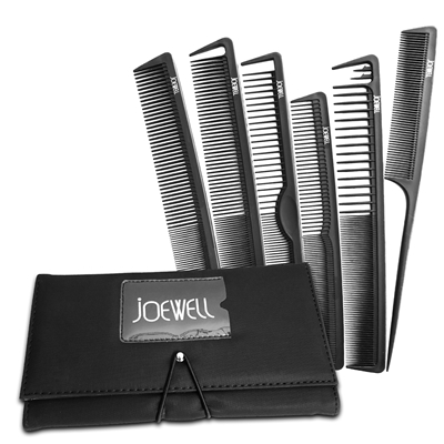 Joewell 6 Piece Comb Set with Case